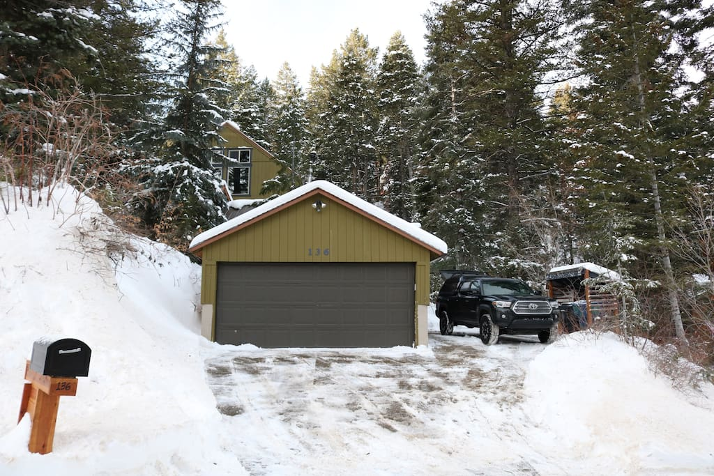 2 Car Garage, ski and gear storage