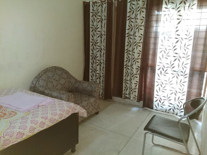 2 BHK  Furnished Apartment with AC near Expo Mart