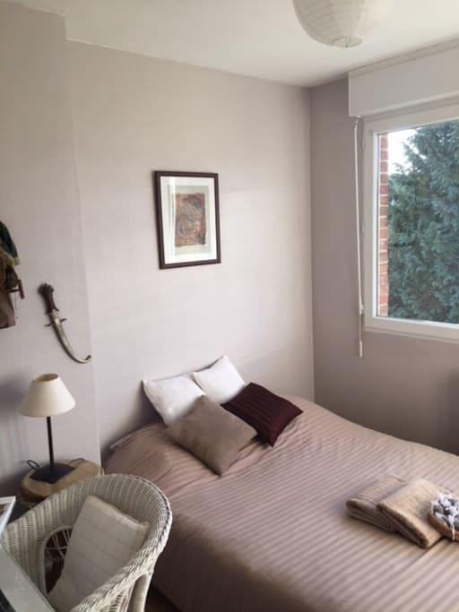 Une chambre cosy au calme sur le jardin