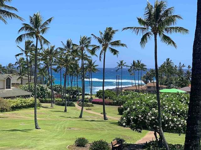 Poipu Stunning Oceanview Steps to the beach