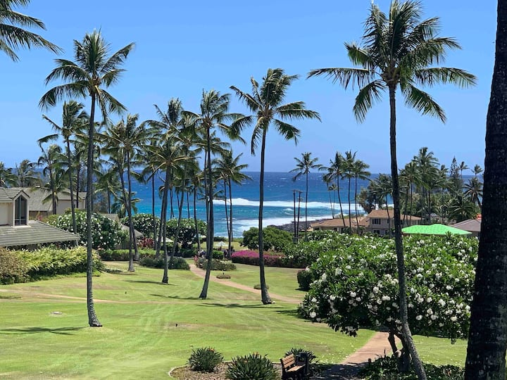 Poipu Stunning Oceanview - Steps from the Beach!