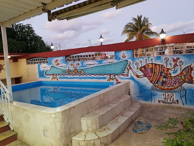 House Bakke in Havanna  with pool and billiard