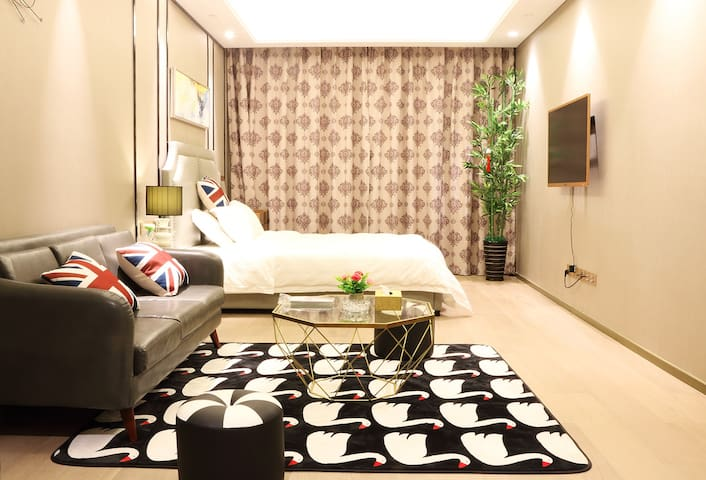 苏州园区 博览中心 金鸡湖 月光码头 摩天轮  圆融广场  商务套房【Room 8】