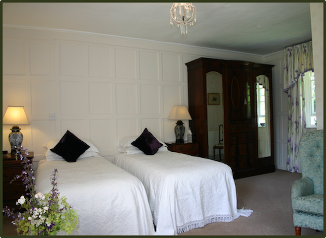 Stoke by Nayland, Poplars Farmhouse, Panelled Room
