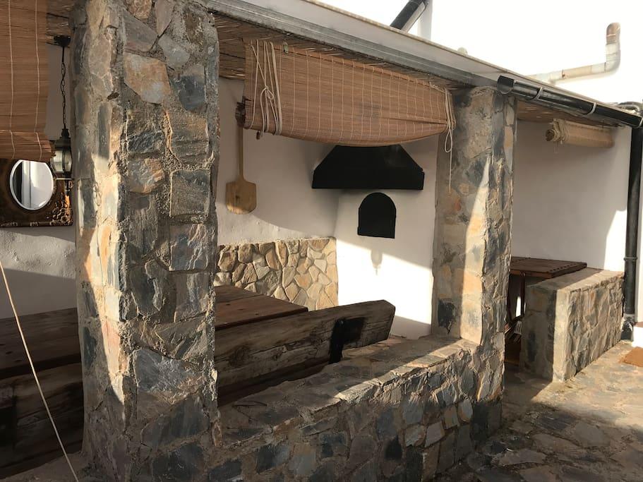 Original outdoor brick oven.
