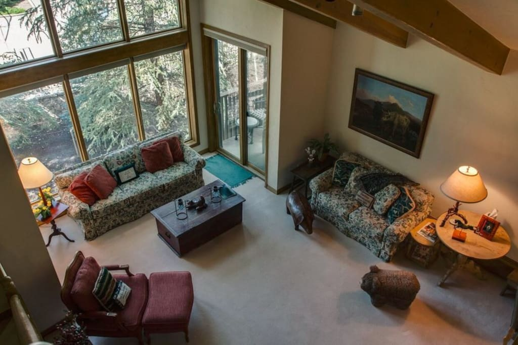 View from Loft into living area