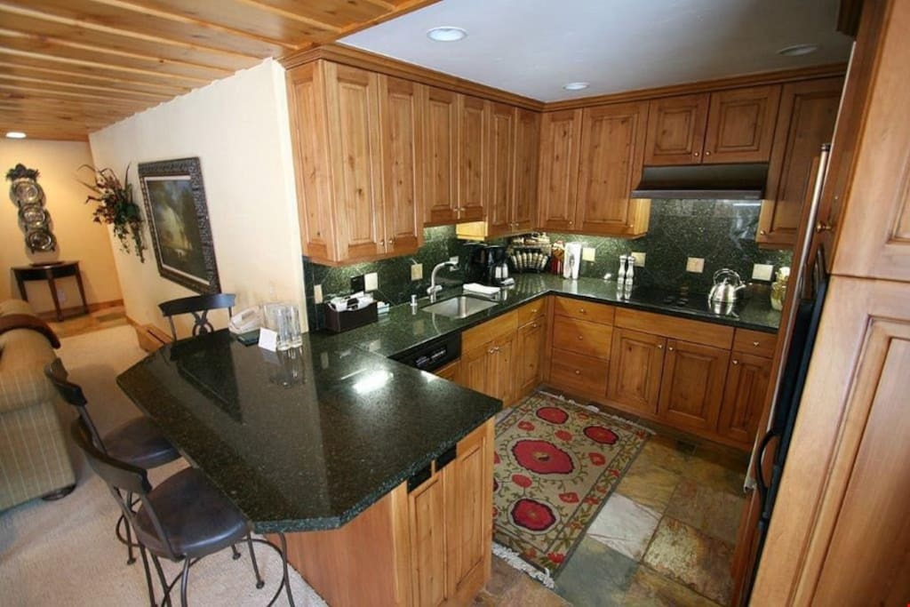 The chef of the group will adore the gourmet, fully-equipped kitchen.