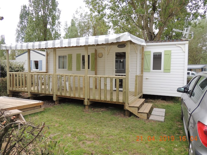 MOBIL HOME 6 PERS A  ANGLES camping le Clos Cottet