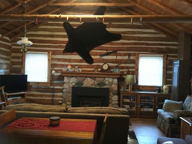 Higgins LAKEFRONT Charming Log - 2 Bedroom + Loft