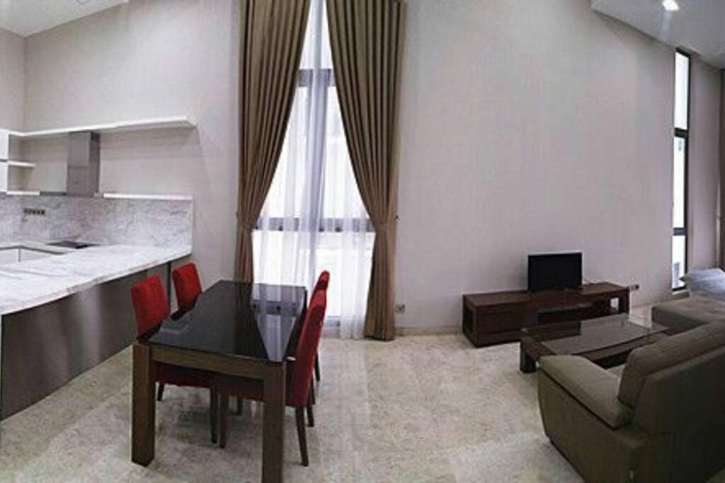 A spacious living room