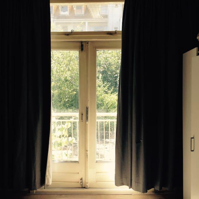 terrace door in bedroom