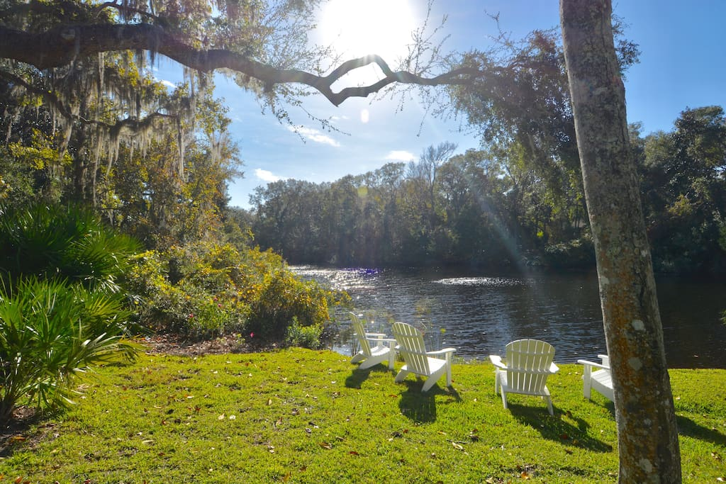 Crisp White Chairs to take in the wildlife