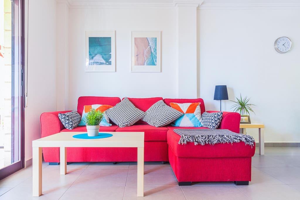 Modern and comfortable living room
