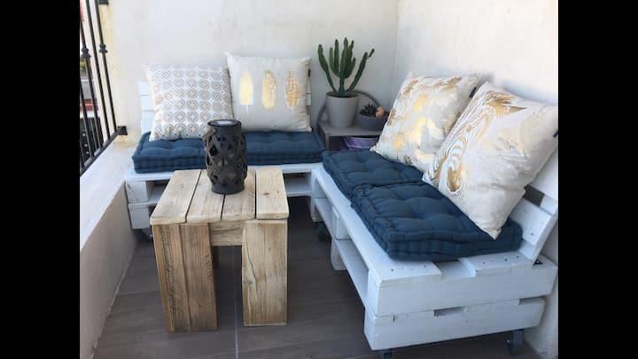 Appartement cosy avec balcon centre de Roquebrune