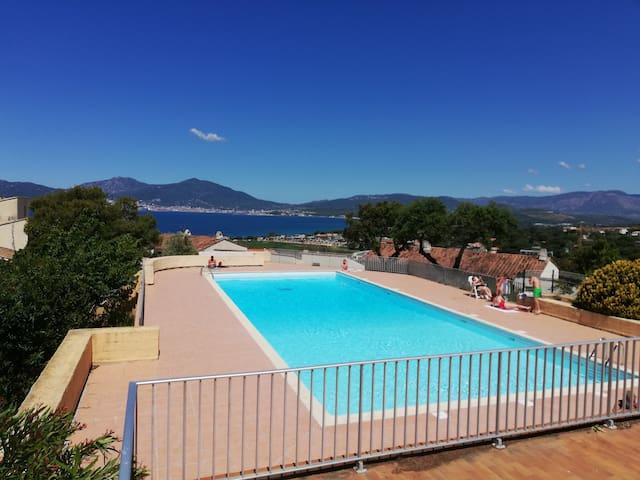 T2 Porticcio tout confort-piscine-300m plageresto