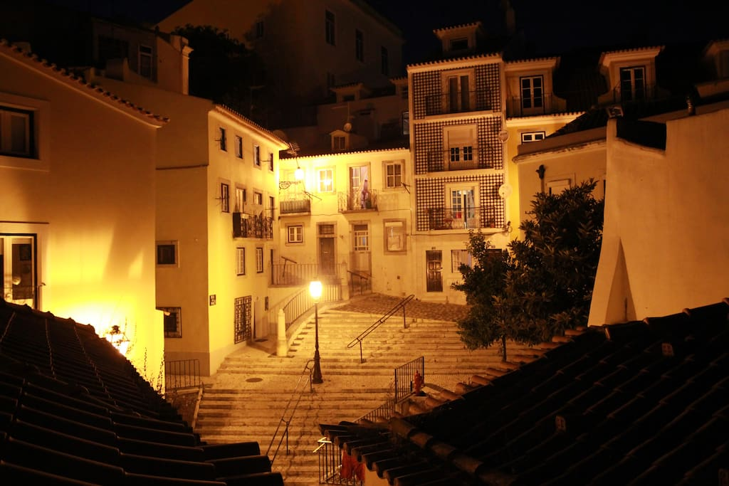 View from the terrace at night