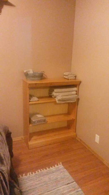 Towels, toiletries etc
