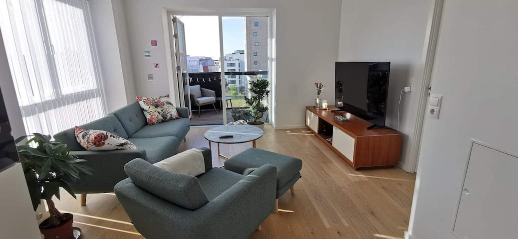 Modern 3-rooms apartment in centre CPH +balcony