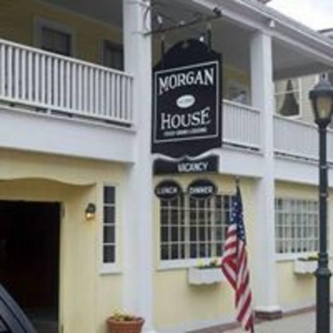 The Morgan House Inn front entrance.
