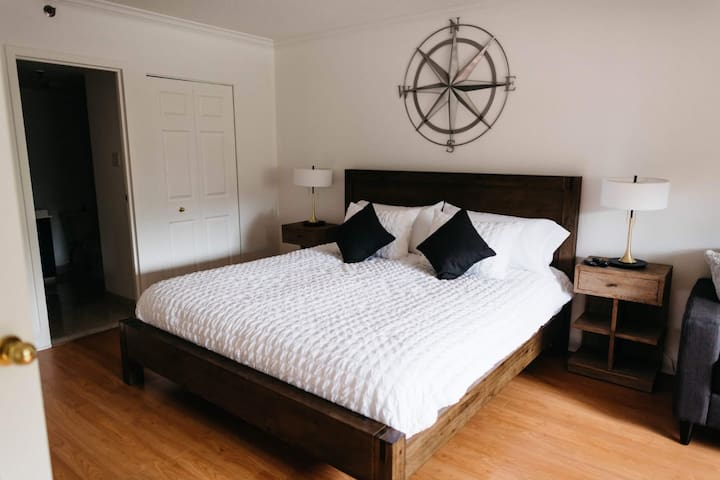 MASTER BEDROOM WITH KING BED AND WASHROOM