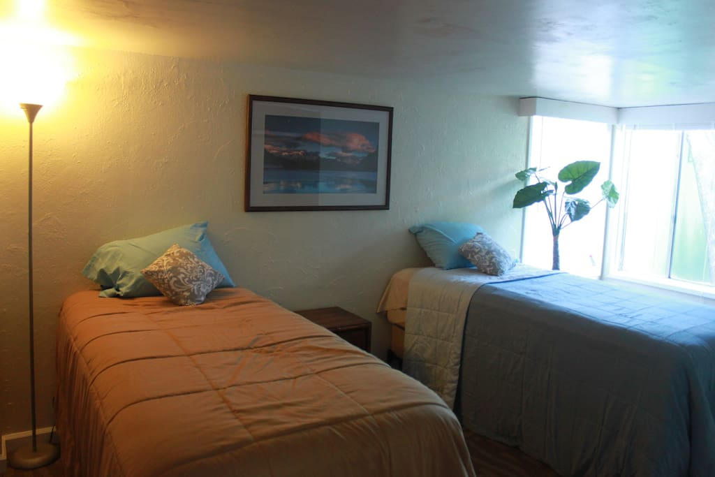Private Bedroom with 2 twin beds or push together for one large bed