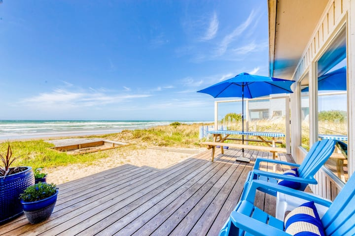 Dog-friendly oceanfront house with sweeping ocean views!