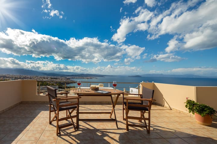 Amazing view from a modern loft - Chania - Wohnung