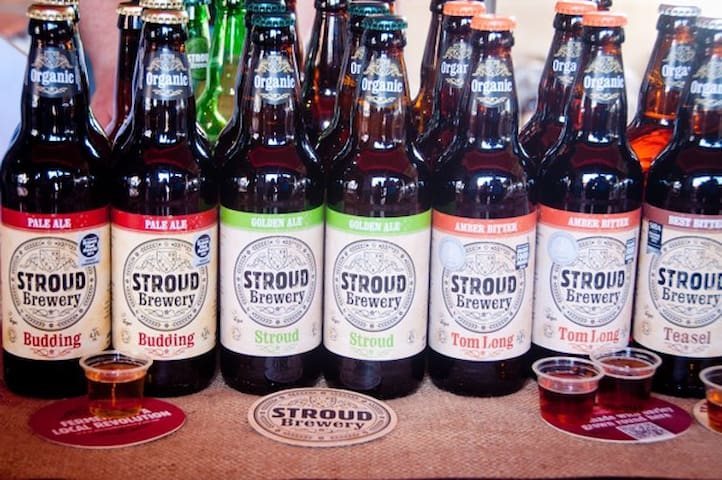 and the Stroud Brewery for beer and pizzas