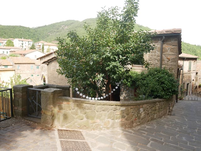Beautiful townhouse stunning views over Tuscany