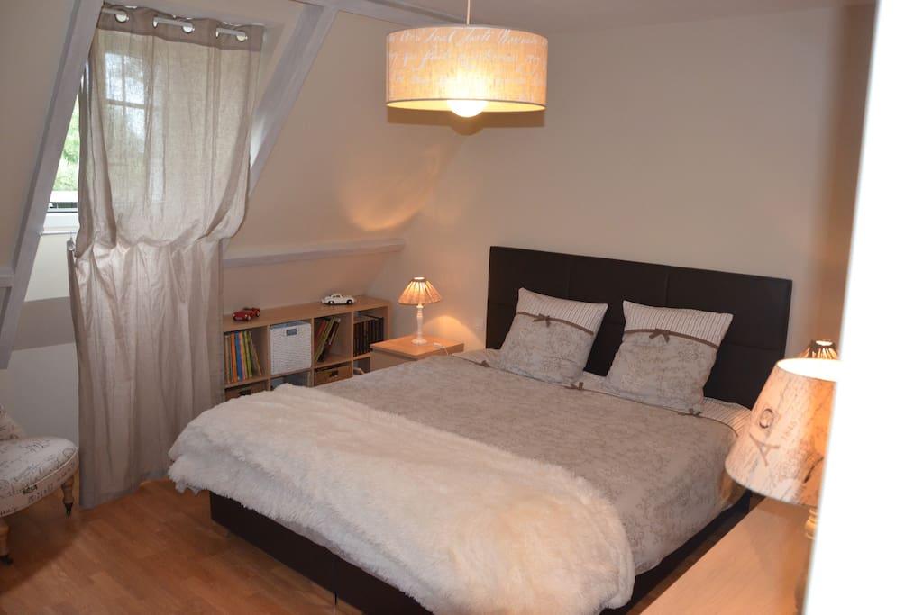 Chambre très spacieuse, 2 lits de 90