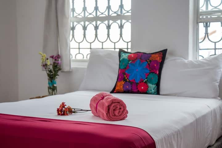 FIESTA ROOM with Private Bathroom, terrace & AC