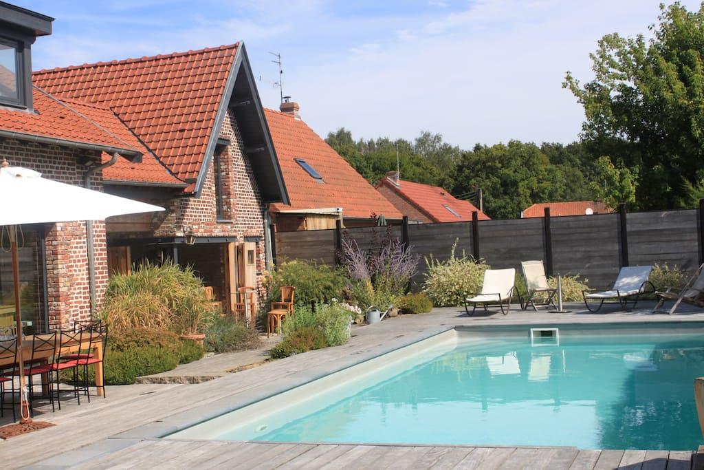 Fermette campagne avec piscine houses for rent in for Hotel nord pas de calais avec piscine