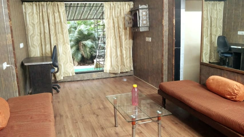 Flat Like Bungalow w Courtyard, 2 BHK Apt, Malad