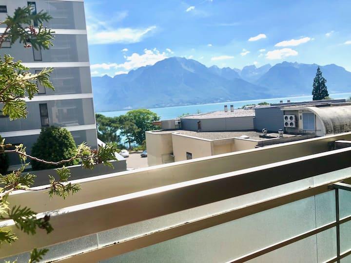 Superbe appartement centré pour famille,vue lac