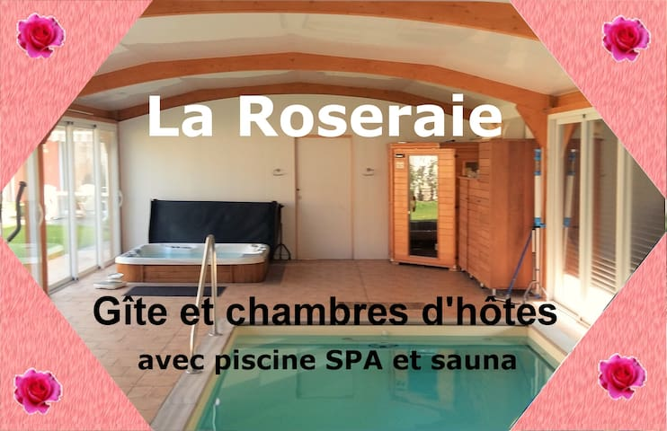 La Roseraie avec piscine chauffée  (Paris 100 km)