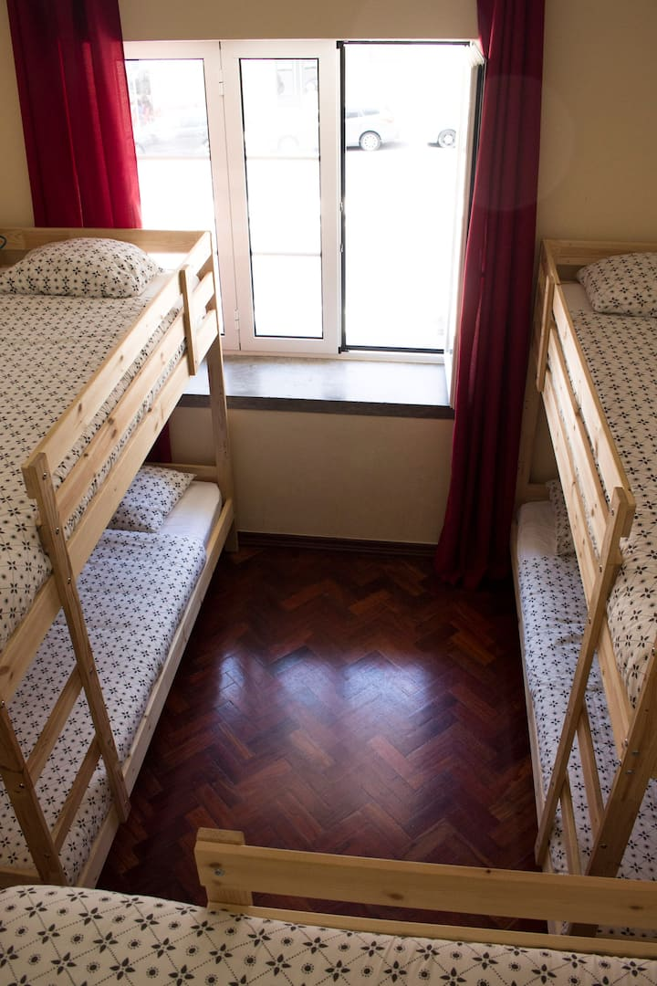 Shared female bunkbed room
