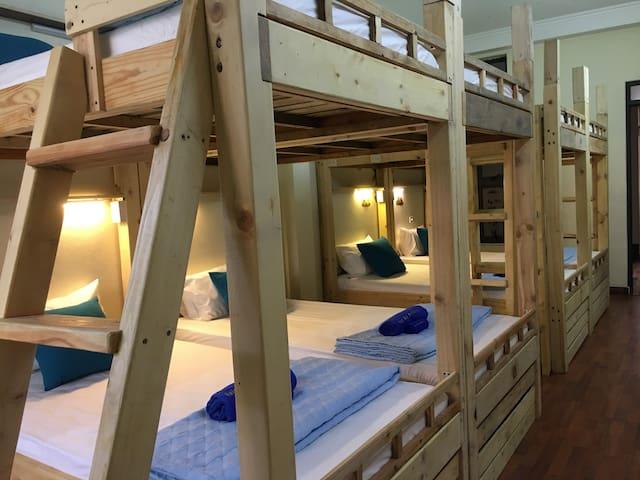 Cute bunk bed in Ha Long bay homestay - nice view
