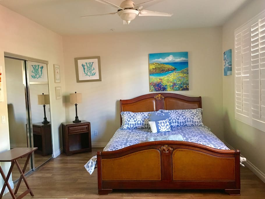 Master Bedroom w/ Cal King Stearns and Foster new mattress