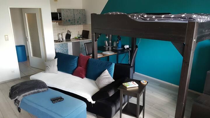Studio - 7. OG - 1-Zimmer mit Hochbett 1,40 x 2,00