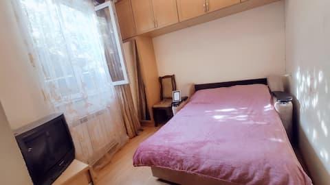 Двухместная комната с диван-кроватью.