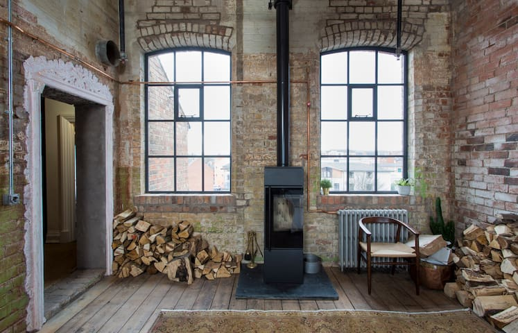 Beautiful log burning stove
