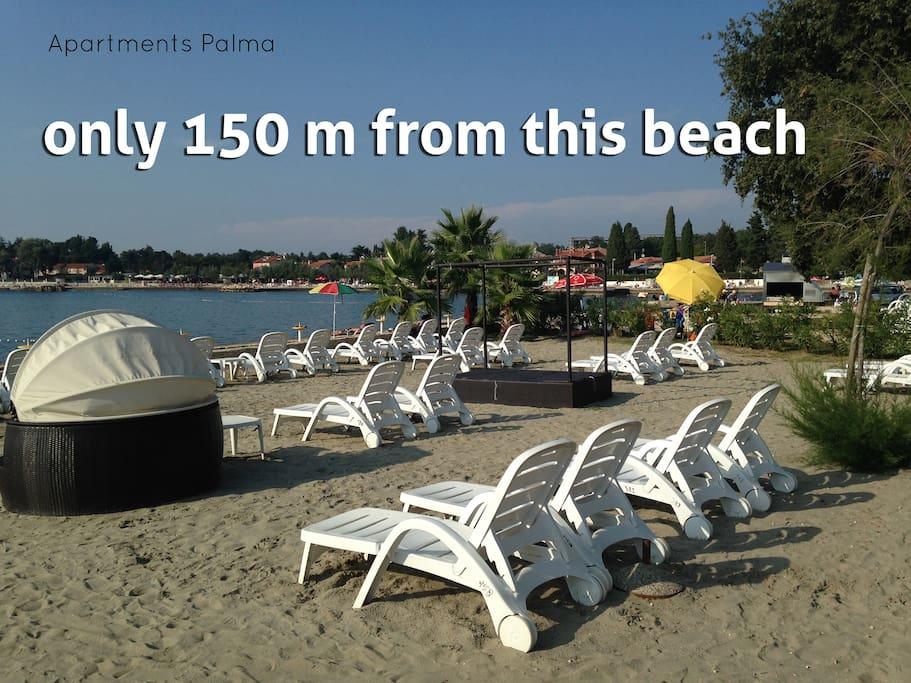 plaža 150 m