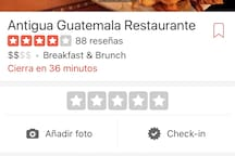 Guatemalan restaurant, very good food, also good prices, very close to home.