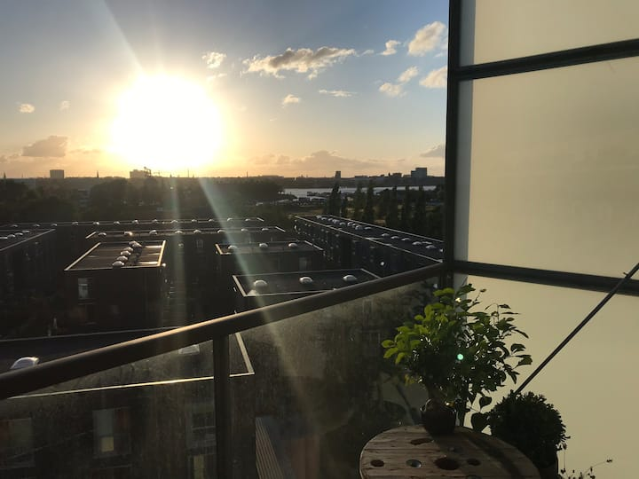 Modern flat with wonderful view over copenhagen.