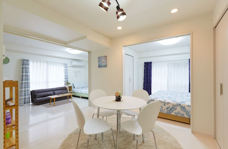 new open!Located 3 station 1min wi-fi 2LDK 3 bed! - Chiyoda-ku - Departamento