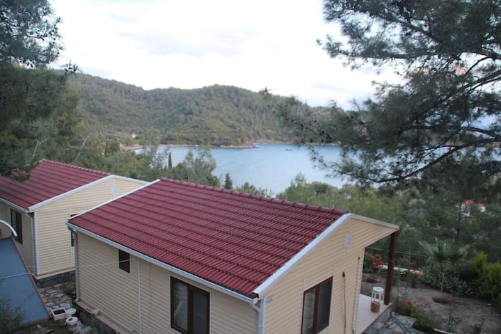 Bodrum Mazı Sea View Bungalow Within Nature # 652