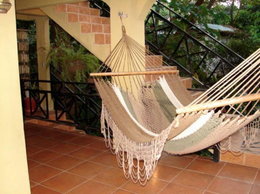 Relax in one of the many hammocks hung throughout the property