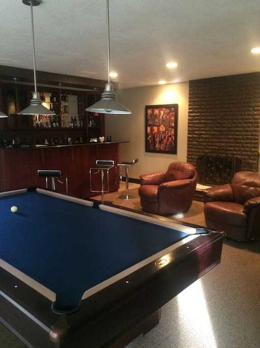 Bar Room with 8x4 Olhausen Pool Table