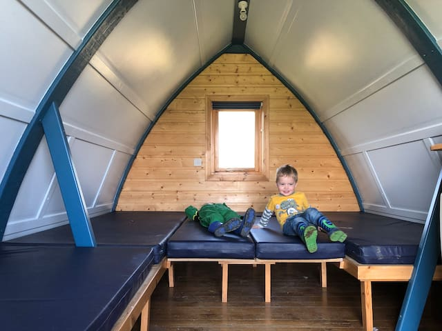 Yorkshire Dales Camping Pod  with glorious views