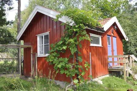 Cozy cabin with bathroom and kitchenette + wifi - Son - 통나무집
